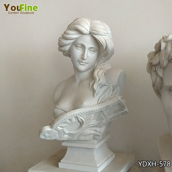 Pure White Marble Woman Bust for Sale YDXH-578