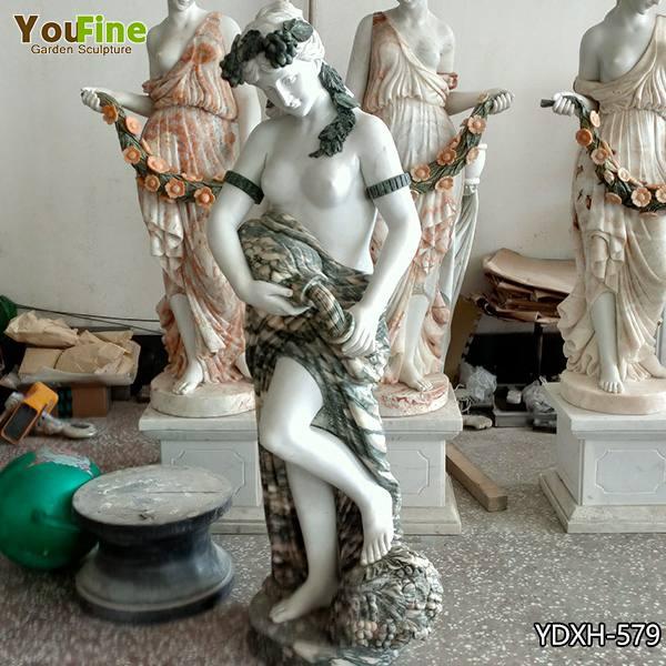 Life Size Mixed Color Marble Woman Sculpture for Sale YDXH-579
