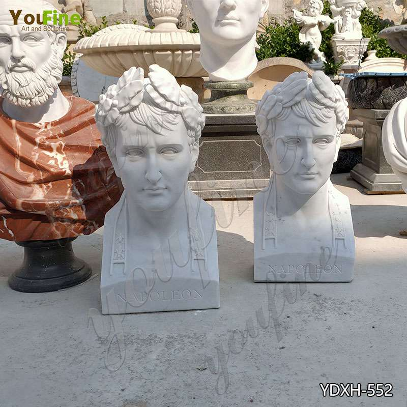 Factory Direct White Marble Bust Man Statue for Room Decor YDXH-552